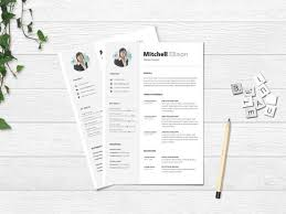 Modern Elegant Font For Resume 10 Free Microsoft Word Resume Templates With Clean Design