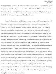my essays my green life jamari flowers^ ^ magical realism page 2
