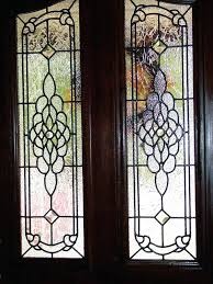 beveled glass front doors leaded stained entry inserts new