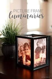 finished illuminated picture frame luminary as home decor