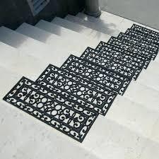 rubber stair mats 6 piece regal treads step mat set outdoor tread covers