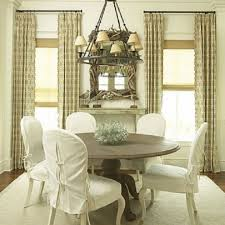 white slipcovers for dining chairs