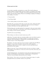 Write A Good Cover Letter The Letter Sample
