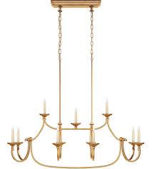 visual comfort chc5495gi e f chapman flemish 11 light 50 inch gilded iron linear pendant ceiling light