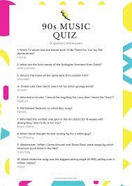 The music was composed by john williams and the lyrics were written by. 90s Music Quiz 40 Questions And Answers