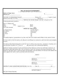 watercraft bill of sale boat bill of sale ny fill online printable fillable