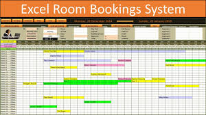 Calendar From Excel Data Excel Room Bookings Calendar