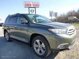 2013 Cypress Green Pearl Toyota Highlander Limited 4WD #99034672 ...