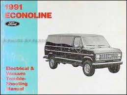 1991 ford econoline foldout wiring diagram original 1991 ford econoline van club wagon electrical troubleshooting manual