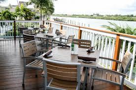 resin teak outdoor dining arm chair