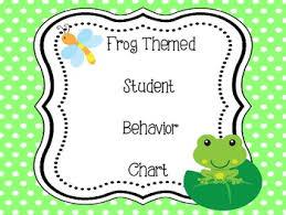 Frog Themed Behavior Chart Frog Themed Behavior Chart Clip System