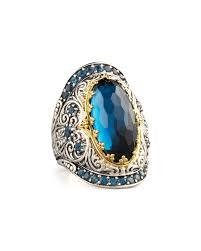 quick look konstantino london blue topaz ring