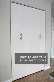 how to add trim to bi fold doors