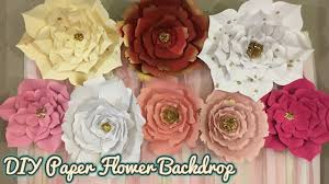 White Paper Flower Backdrop Paper Flower Backdrop Pink White And Gold Theme Party Backdrop