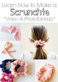 How To Macke How To Make A Scrunchie Simple Simon And Company