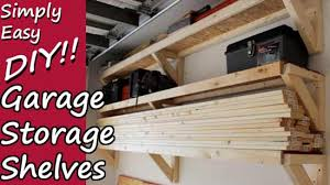 diy garage storage shelves that are low profile off the floor and open faced i have always had a hard time when it comes to storage solutions