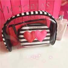 free pose victoria s secret cosmetic bag make up wash 3 bags set