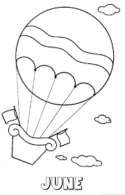 June Luchtballon Naam Kleurplaat