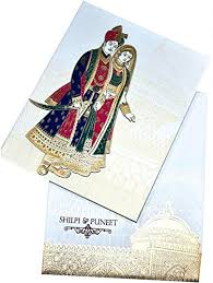 Wedding Card Design Rajwadi Themed Beautiful Wedding Invitation Card Ethnic Wedding Card