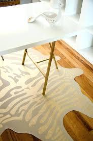 faux animal rug rugs zebra skin canada daniellemorgan intended for inside decor 12