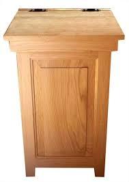 wooden garbage box wooden garbage can wood kitchen economy trash oak hinge top gal box plans wooden garbage box