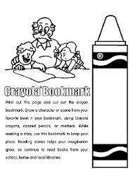 Crayon Bookmark Coloring Page Crayolacom