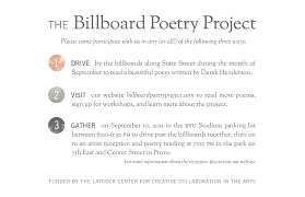 billboard poetry project billboard poetry project