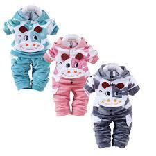 <b>Newborn Baby</b> 2Pcs Sets Outfits Girls Boys <b>Cartoon Cow</b> Suede ...