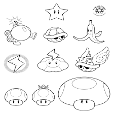 Mario Kart Coloring Pages Inspirational Mario Kart Simple Home