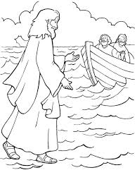 One Of Miracles Of Jesus Is Walking On Water Coloring Page Bible