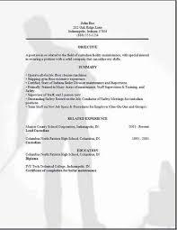 Custodian Resume Template Custodian Resumeexamples Samples Free Edit