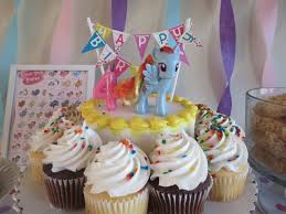 easy peasy i got the very affordable cake and cupcakes from wal mart added a wilton cake bunting sign 2 and a brand new pony from the target check