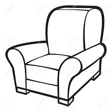sofa black and white drawing