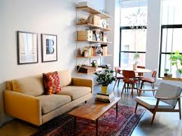 dining living room furniture. the traditional rug grounds this midcentury modern apartment dining living room furniture