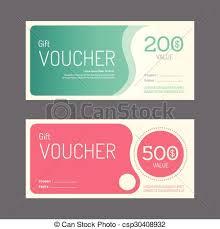 Clipart Coupon Template Vector Gift Voucher Coupon Template Design Paper Label Vectors
