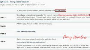 Canada Tourist Visa Personal Reference Code Pinay Wanders