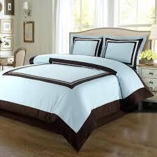 um image for modern hotel blue brown cotton framed duvet cover set white collection luminescent king
