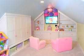 ... Exquisite Arrangement Interior For Cute Playroom Ideas : Amazing  Playroom Interior Ideas With Pink Leather Club ...