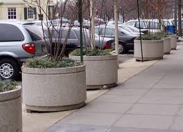 large cement planters. Our Large Concrete Planters Offer Beauty While Acting As A Natural Barrier. Cement S