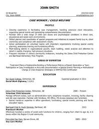 Child Welfare Worker Sample Resume Mesmerizing A Professional Resume Template For A Child Welfare Case Worker Want