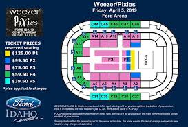 Idaho Center Concert Seating Chart Events Weezer Pixies Ford Idaho Center