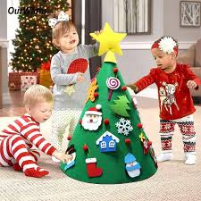 Online Shop <b>OurWarm</b> 3D Felt <b>Christmas Tree</b> with Ornaments New ...