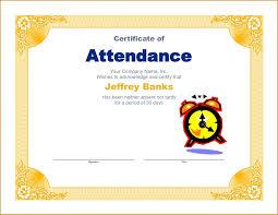 Attendance Certificates Printable Certificate Of Attendance Template Word Doc New Attendance 13