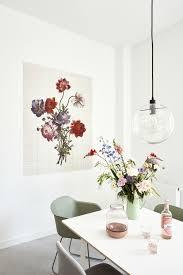 Esszimmer Wandgestaltung Im Farbenfrohen Blumen Look Das