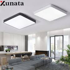 Square Led Ceiling Light Fixture Us 23 5 32 Off Square Round Led Ceiling Light Modern Lamp Living Room Lighting Fixture Bedroom Kitchen Surface Mount Flush Panel Lampara Techo In
