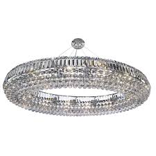 searchlight 9190cc vesuvius oval 24 light chandelier with clear crystal coffin drops