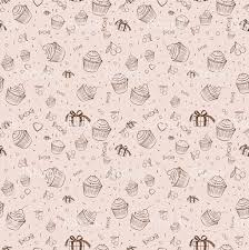 Vintage Background Cupcakes Stock Vector Art More Images Of 2015