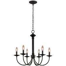 new century 6 light chandelier