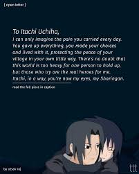 This tsukuyomi is said to be the strongest genjutsu itachi has ever used. Terribly Tiny Tales To Itachi Uchiha It Was Easier For Me To Be Carefree When I Was Younger There Was Not A Single Day When I Worried About The Darkness In