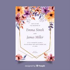 Wedding Invitation Card Template Free Vector Bestgrap